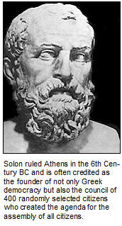 Solon, the founder of Greek Democracy